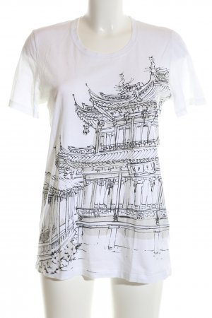 Burberry T-Shirt white-black themed print casual look