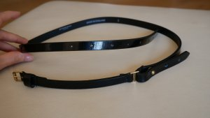 Burberry Taillengürtel Hüftgürtel Gürtel schwarz Lack Leder Kleid/Bluse schmal Gr.M/L 38/40/42 95/100