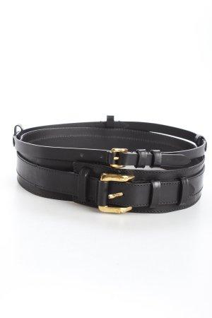 Burberry Taillengürtel schwarz-goldfarben extravaganter Stil