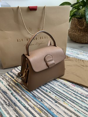 Burberry Tasche Camberley Small Leather Tote camel/brown