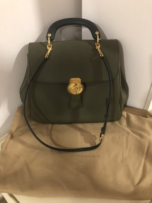 Burberry Carry Bag green grey leather