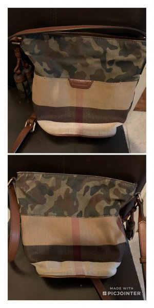 Burberry Crossbody bag brown-dark green