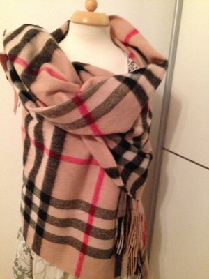 Burberry The Classic*100% Cashmere *Scarf in Check*Beige 200x70