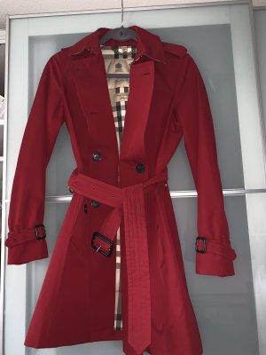 Burberry Veste mi-saison rouge foncé
