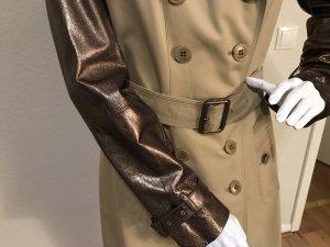 Burberry Trenchcoat 42 neu mit Lederärmeln Mantel
