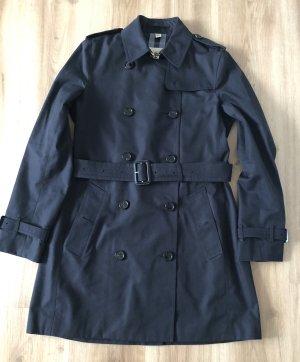 Burberry London Trenchcoat donkerblauw Katoen