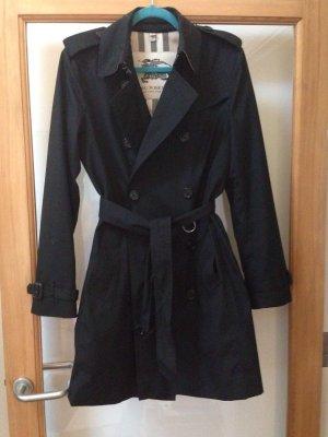 Burberry Trenchcoat, Stoffgewebe, in schwarz Größe 38