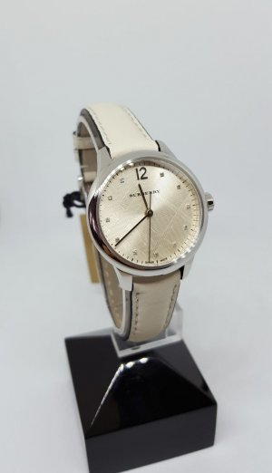 Burberry Analog Watch silver-colored-natural white