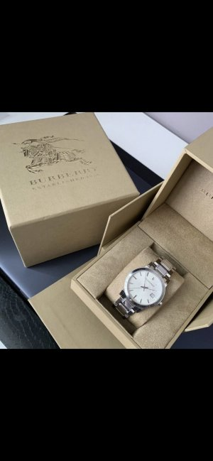 Burberry Watch With Metal Strap silver-colored
