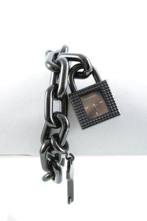 Burberry Uhr mit Metallband schwarz Rockabilly-Look