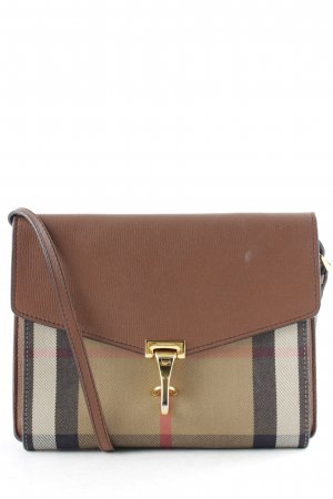 "Burberry Gekruiste tas ""Macken Crossbody House Check Derby Leather Small Tan"""