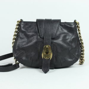 Burberry Crossbody bag black-gold-colored leather