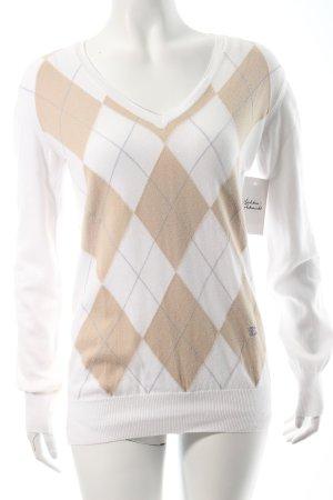 Burberry V-Ausschnitt-Pullover mehrfarbig Brit-Look