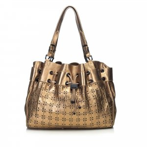 Burberry Tote gold-colored leather