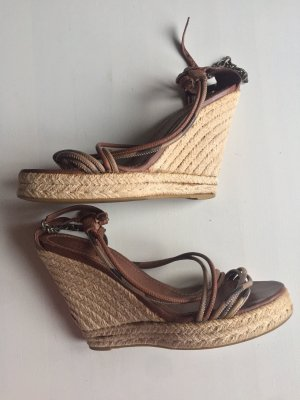 Burberry Wedge Sandals bronze-colored