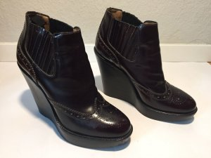 Burberry Slip-on Booties black brown leather