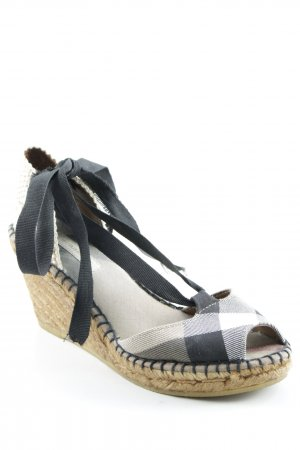 Burberry Wedge Sandals glen check pattern casual look