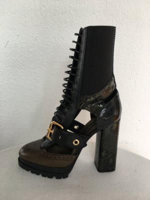 Burberry Westmarsh Ankle Boots, Military Oliv, Leder/Schlange, 41, neu, € 1.950,-