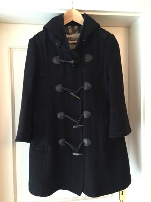 Burberry Wintermantel Gr 38 UK 10 schwarz