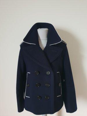 Burberry London Veste en laine blanc-bleu foncé