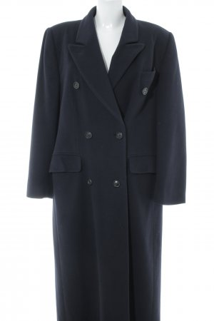 Burberry Wollen jas donkerblauw klassieke stijl