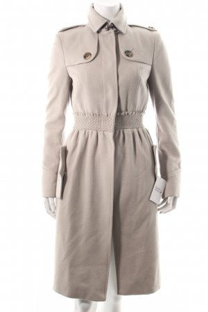 Burberry Wollmantel hellbeige-hellgrau Business-Look