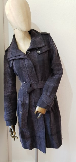 BURBERRY Wollmantel nova check tartan wrapcoat Trenchcoat