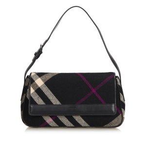 Burberry Wool Plaid Shoulder Bag