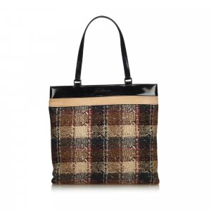 Burberry Tote brown wool