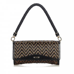 Burberry Woven Leather Shoulder Bag
