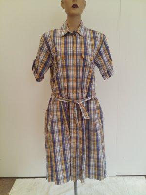 Burberrys of London Shortsleeve Dress yellow-pale blue cotton