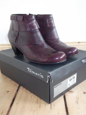 burgunderrote Tamaris Stiefeletten Gr. 38