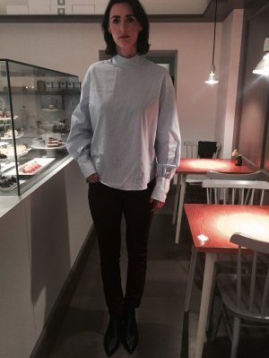 Burgundy Skinny Jeans Gr. 31