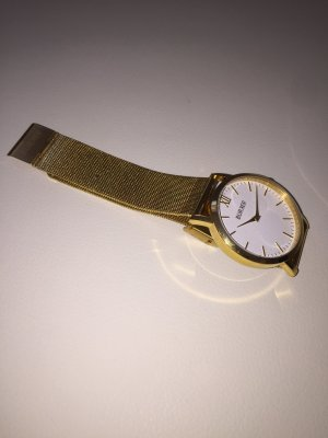 Burker Uhr Armbanduhr gold watch