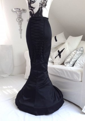 """Burlesque Gothic Pin-Up Rock JUNGBLUTH Korsett Satin Reifrock """"Elvira"""" – NEU"""