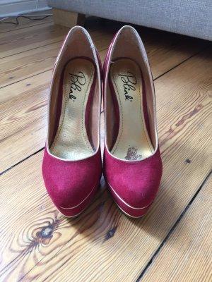 Burlesque High Heels Gr.39 rot/Gold
