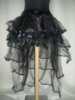 Burlesque Volant Rock schwarz XS,S,M,L,XL