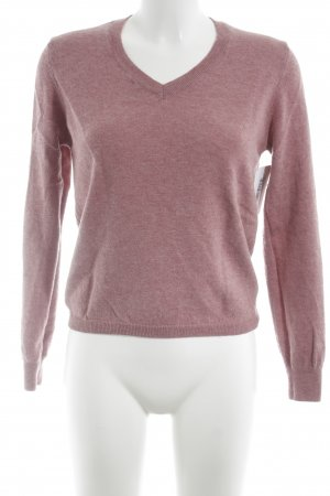 Burlington V-Neck Sweater dusky pink flecked casual look