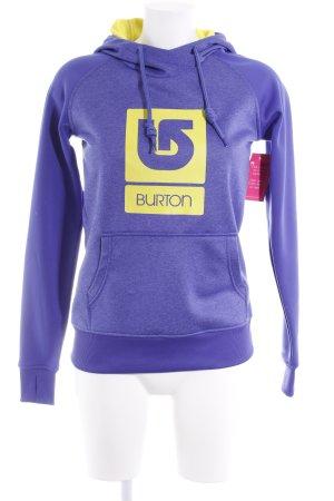 Burton Kapuzenpullover blauviolett-blau meliert Casual-Look