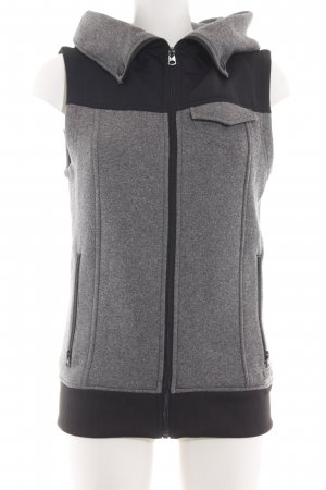 Burton Hooded Vest light grey-black flecked casual look