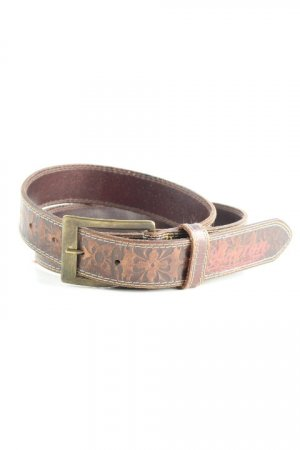 Burton Leather Belt black brown abstract pattern casual look