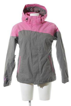 Burton Chaqueta para exteriores gris-rosa estilo deportivo
