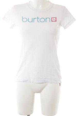 Burton Print-Shirt Schriftzug gedruckt Casual-Look