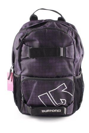 Burton Schulrucksack schwarz-dunkelviolett Karomuster sportlicher Stil