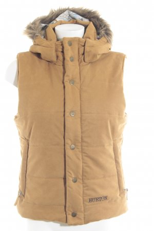 Burton Quilted Gilet sand brown quilting pattern casual look