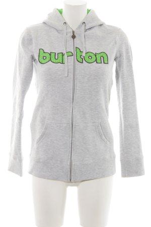 Burton Sweatjacke hellgrau meliert sportlicher Stil
