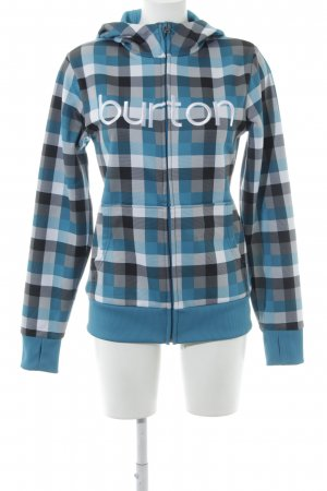 Burton Sweat Jacket check pattern athletic style