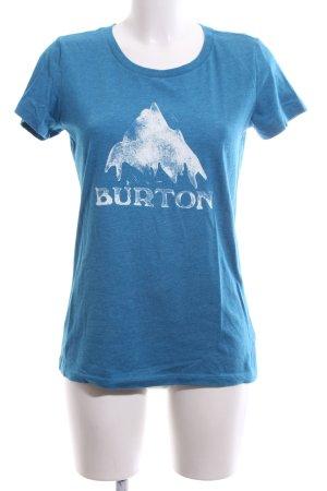 Burton T-Shirt blau-weiß Motivdruck Casual-Look