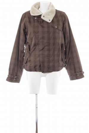Burton Winter Jacket brown-light brown check pattern casual look