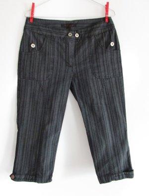 Business 3/4 Hose Stoffhose Streifen Wissmach Größe S 36 Schwarz Grau Anthrazit Knickerbocker Anzughose